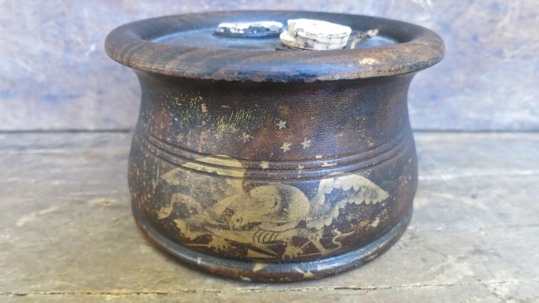 Large 19th C Silliman & Co Inkwell With American Eagle - 2