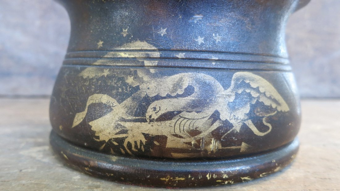 Large 19th C Silliman & Co Inkwell With American Eagle - 4
