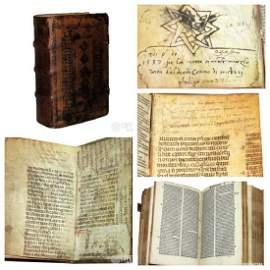 Holy Bible Post Incunabulus Autograph Philip Strozzi