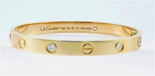 Cartier Love Bracelet Four Diamonds With Original Pouch