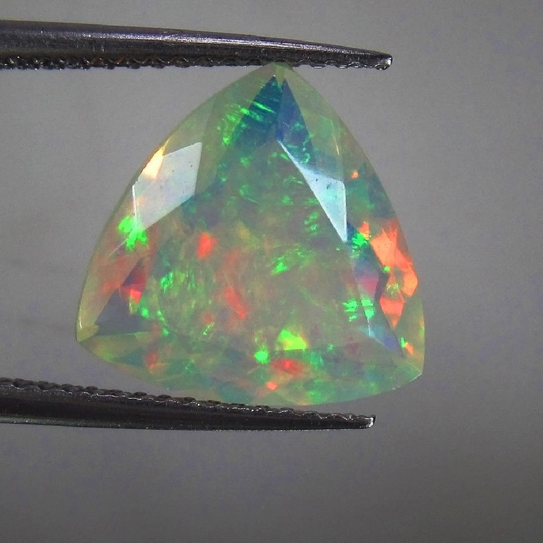 3.15 Ctw Natural Ethiopian Faceted Opal Rare Trillion