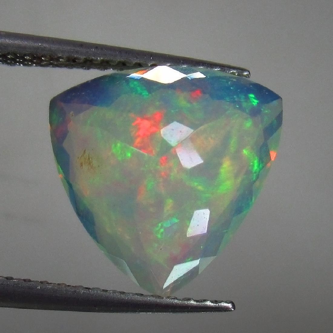 3.15 Ctw Natural Ethiopian Faceted Opal Rare Trillion - 2