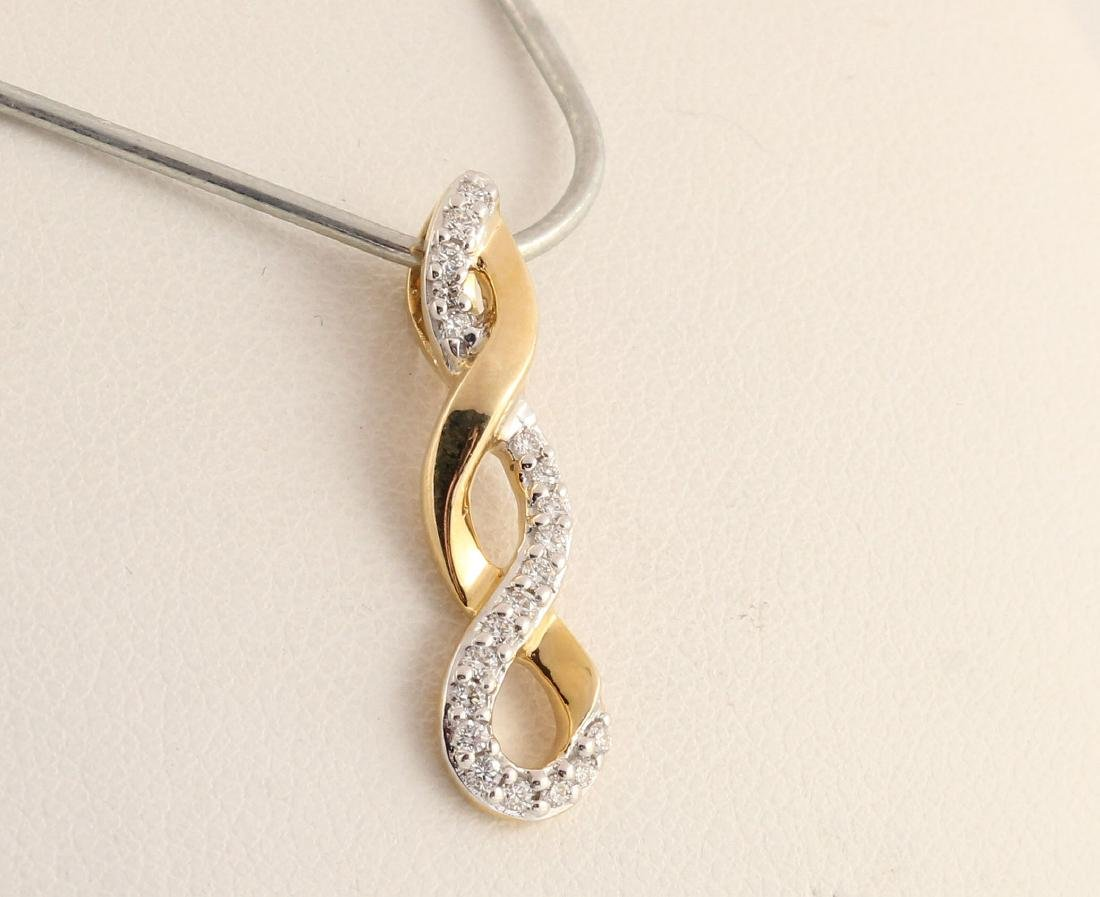 14kt yellow gold diamond pendant 0.15ct - 2