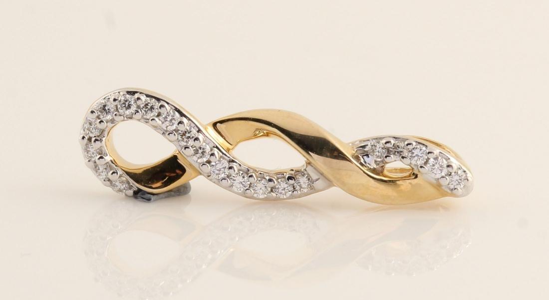 14kt yellow gold diamond pendant 0.15ct - 5