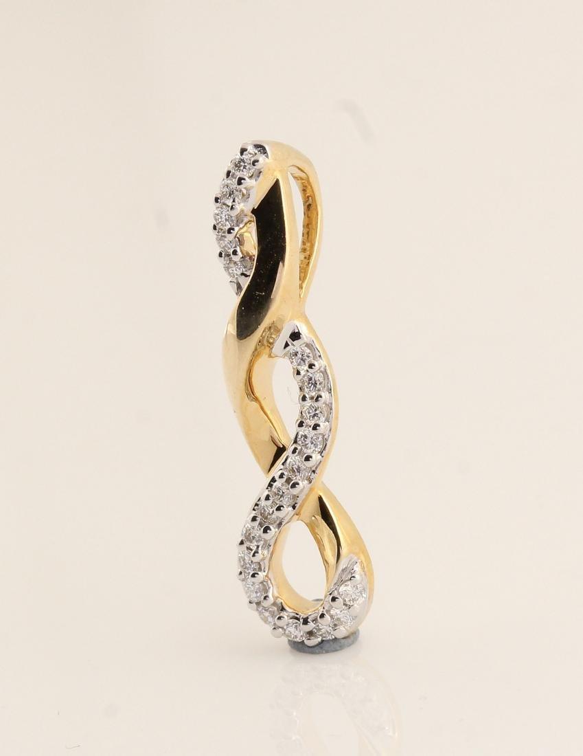 14kt yellow gold diamond pendant 0.15ct - 6
