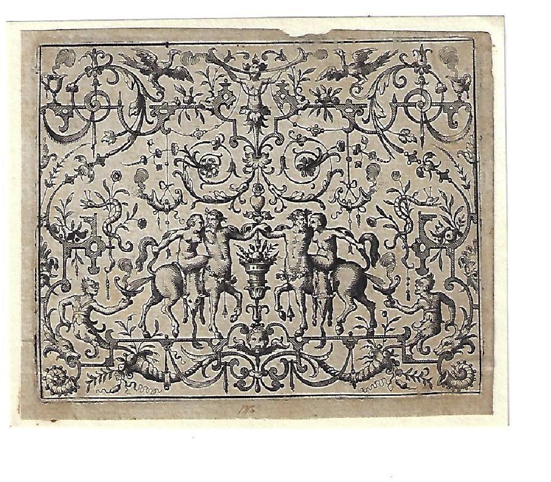1566 Engraving Du Cerceau Petit Grotesques