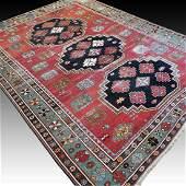 Antique 1800s Caucasian collectors Kazak - 8.2 x 5.9