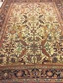 Semi Antique Hand Woven Persian Heriz 9.8x7.7