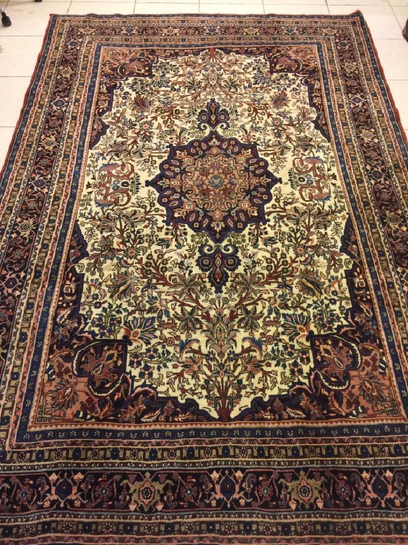 Semi Antique Hand Woven Persian Bijar 10.7x6.11
