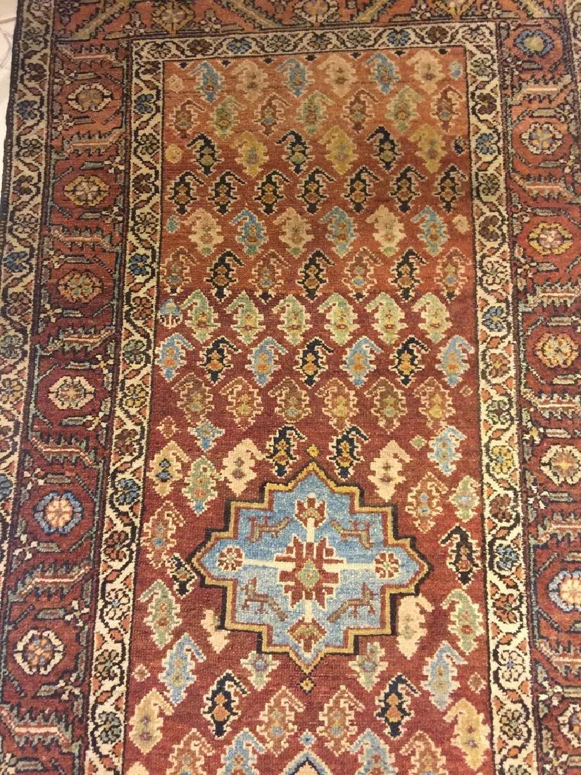 Semi Antique Hand Woven Persian Malayer Runner - 3