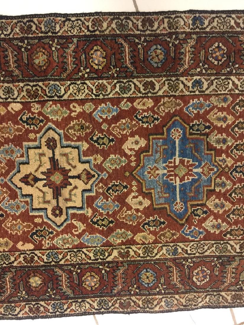 Semi Antique Hand Woven Persian Malayer Runner - 6