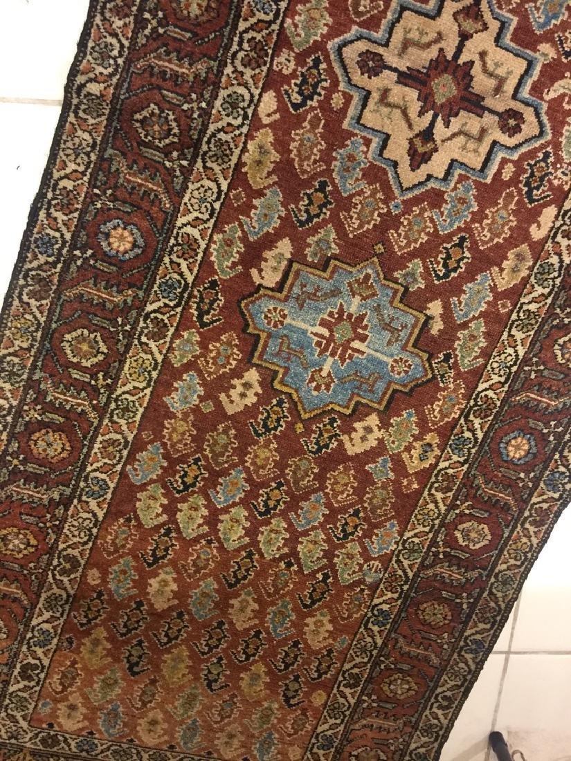 Semi Antique Hand Woven Persian Malayer Runner - 7