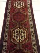 Semi Antique Hand Woven Persian Heriz Runner 12.9x3.1