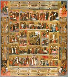 Resurrection and 28 Feasts