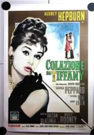 Breakfast at Tiffany's (Italy, 1962) 39.5? x 55? Movie