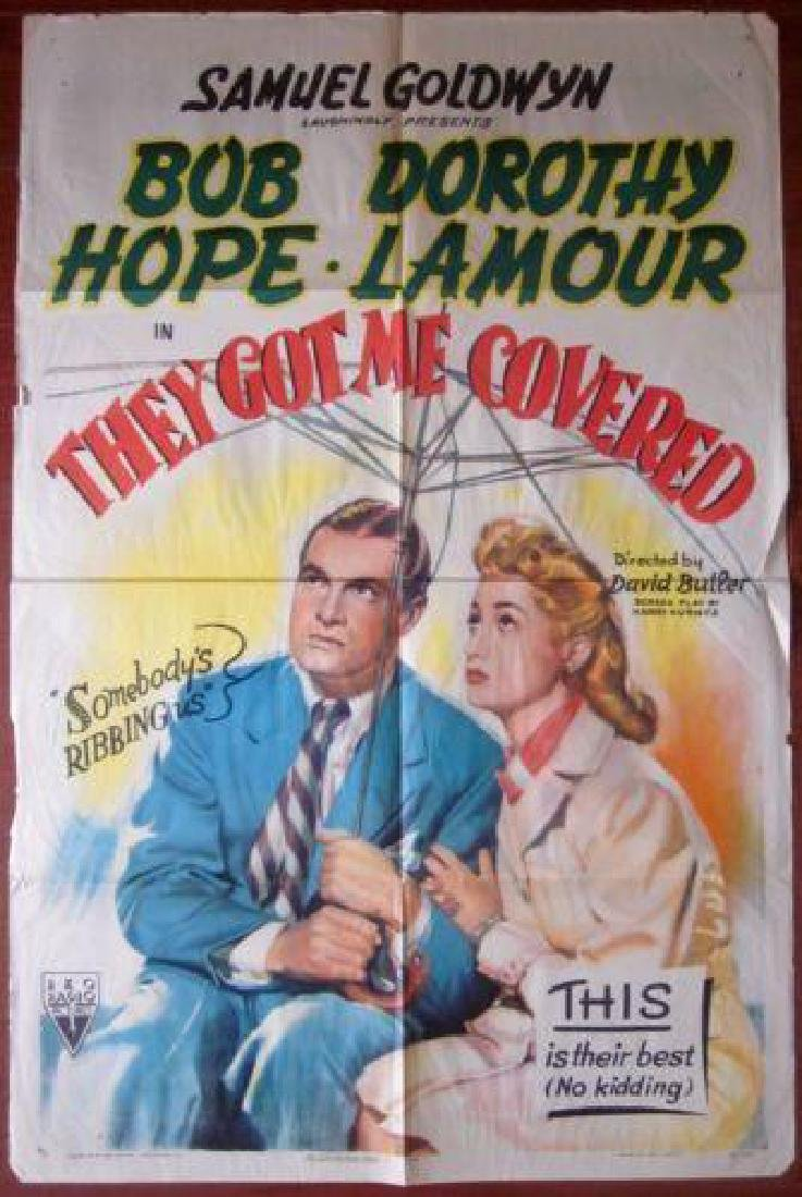 THEY GOT ME COVERED – ORIGINAL 1943 ONE SHEET POSTER –