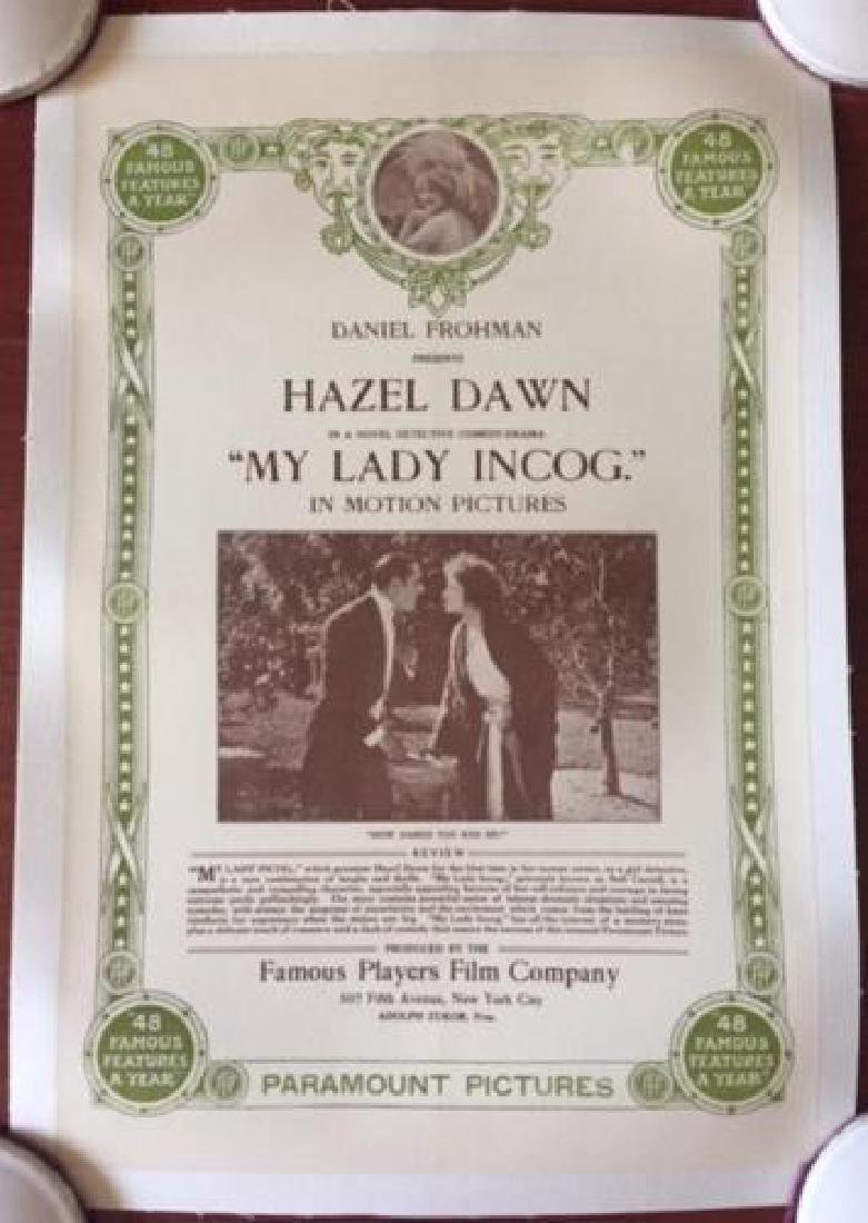 MY LADY INCOG – ORIGINAL 1916 MINI ONE SHEET LB POSTER