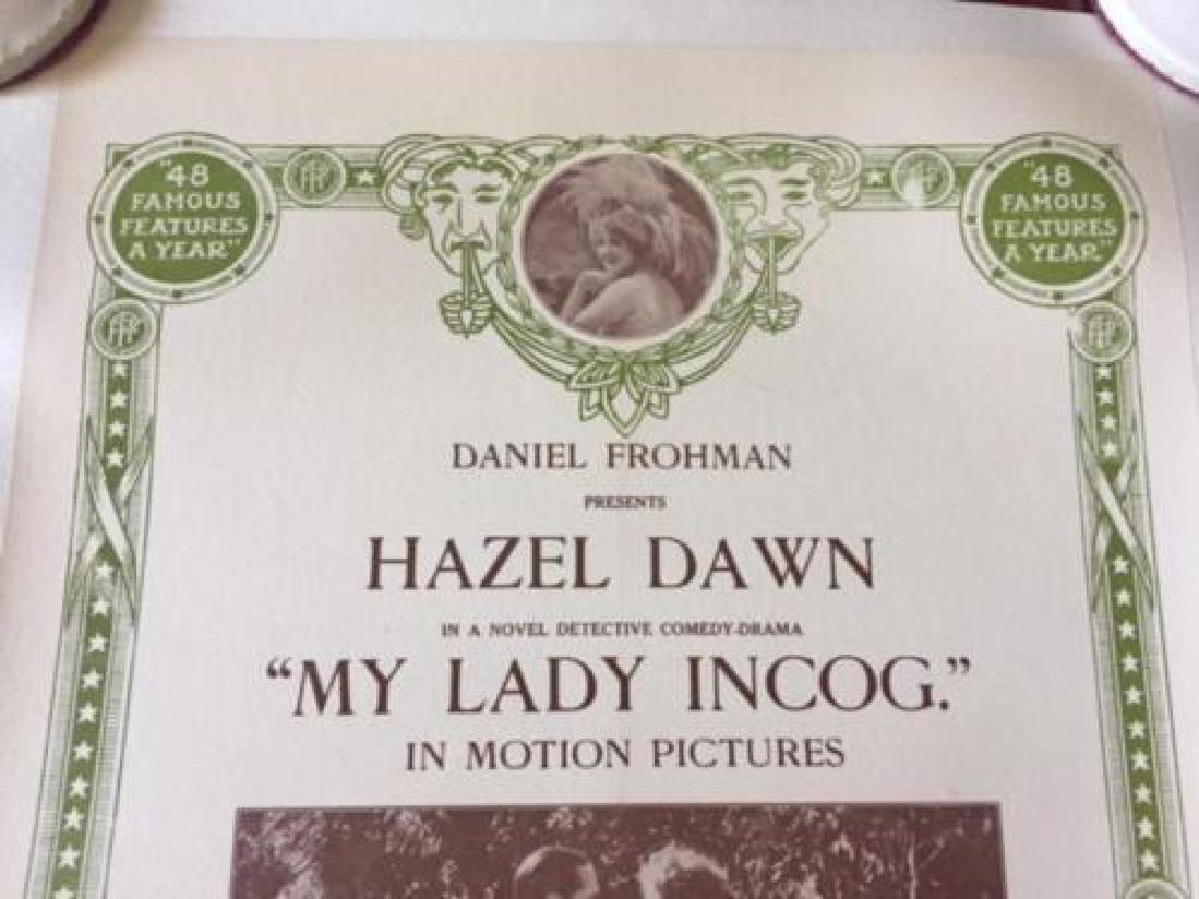 MY LADY INCOG – ORIGINAL 1916 MINI ONE SHEET LB POSTER - 2