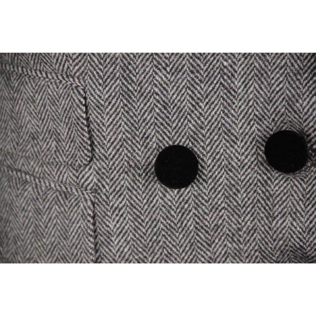 DOLCE & GABBANA Herringbone Wool Blend SUIT Blazer & - 4