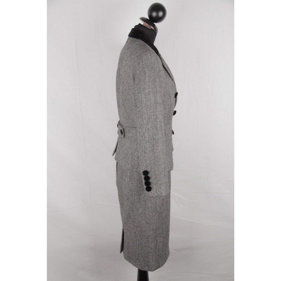 DOLCE & GABBANA Herringbone Wool Blend SUIT Blazer & - 5