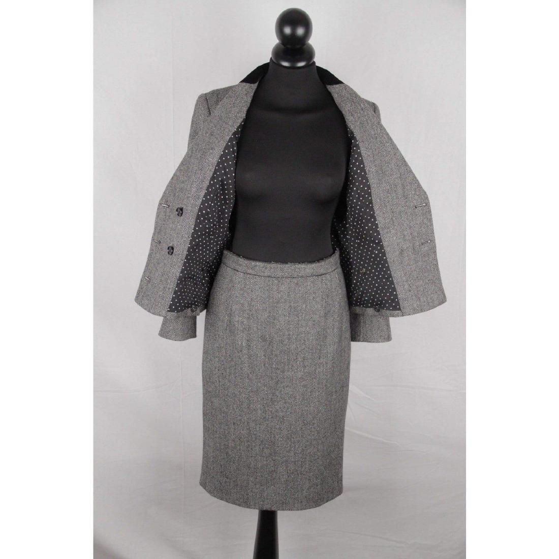 DOLCE & GABBANA Herringbone Wool Blend SUIT Blazer & - 8