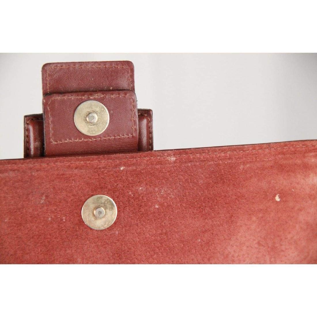 MONTENAPOLEONE Vintage Brown Leather HANDBAG - 10