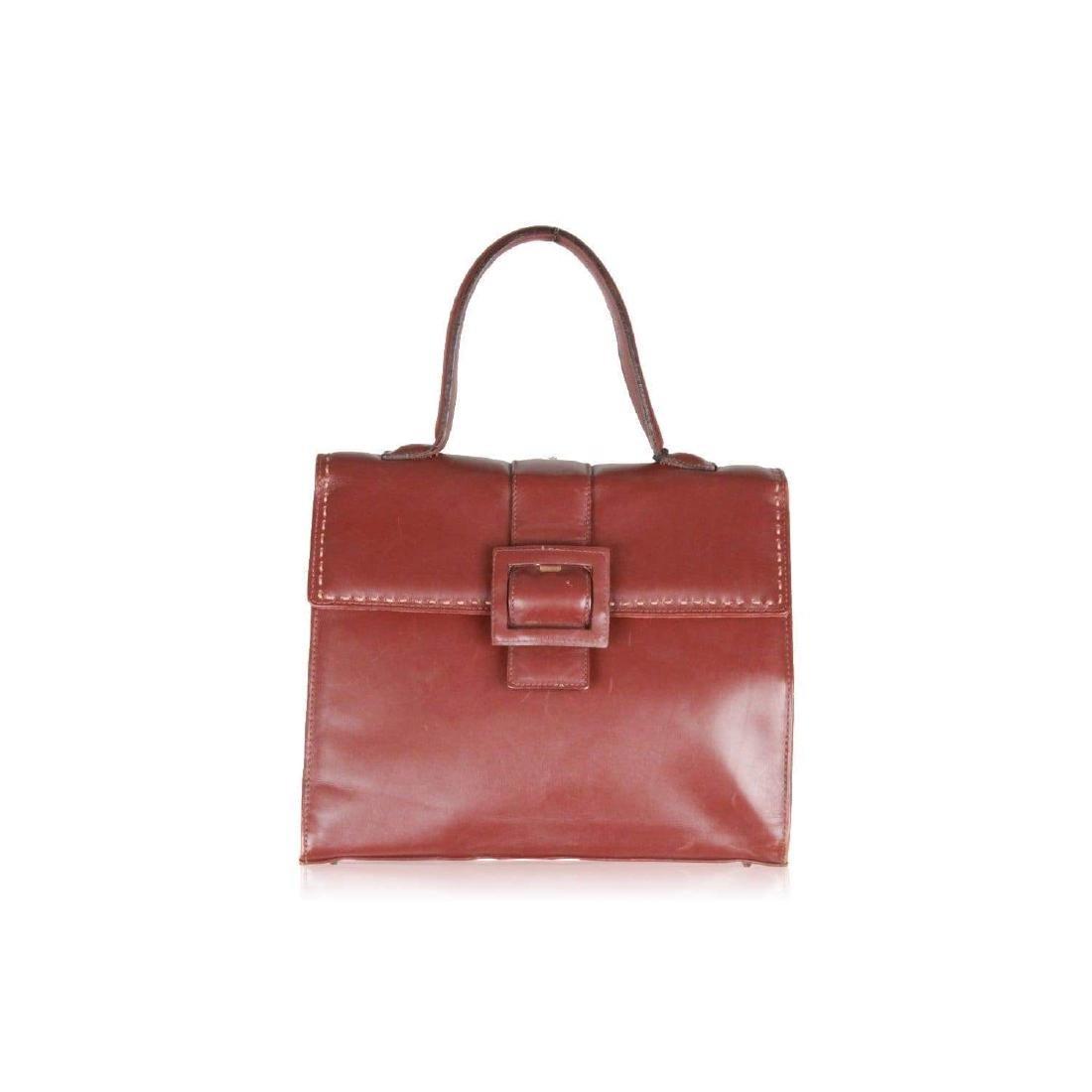 MONTENAPOLEONE Vintage Brown Leather HANDBAG