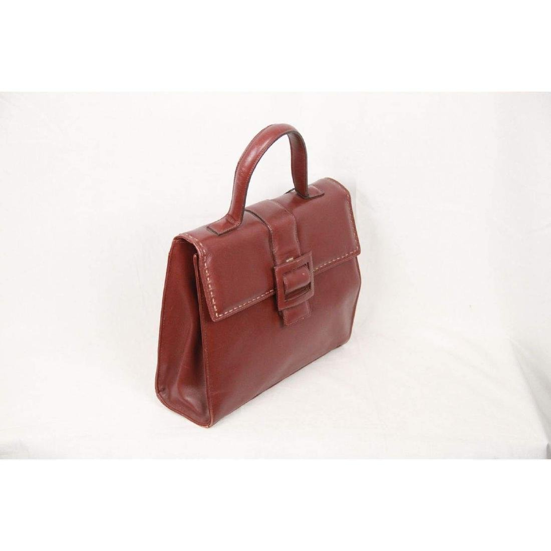 MONTENAPOLEONE Vintage Brown Leather HANDBAG - 2