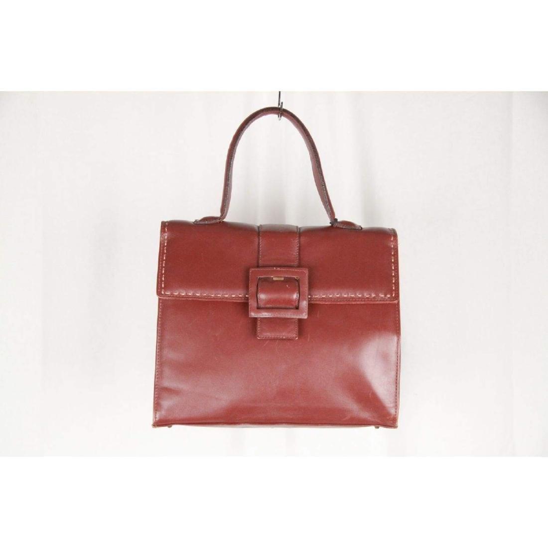 MONTENAPOLEONE Vintage Brown Leather HANDBAG - 3