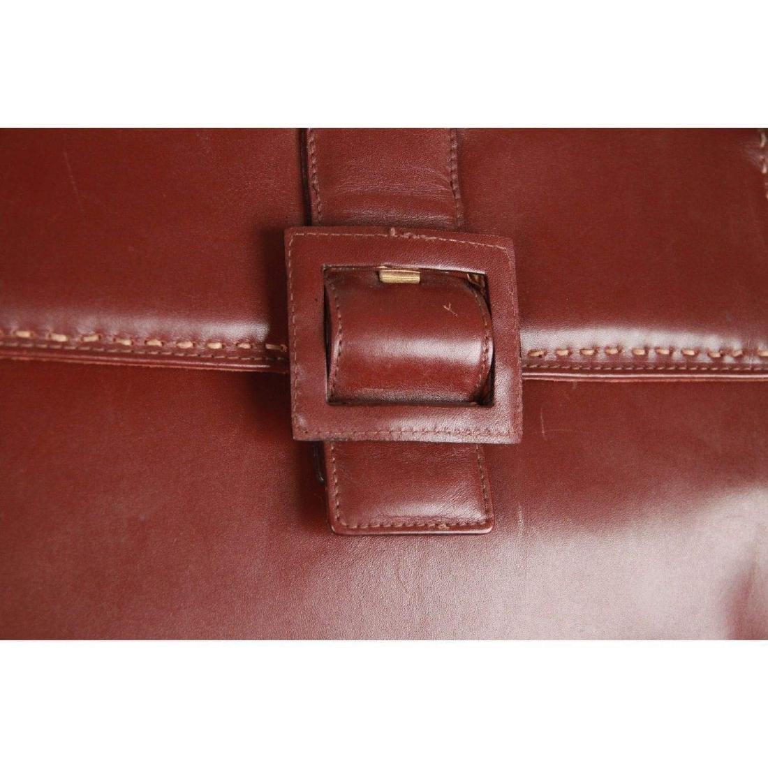 MONTENAPOLEONE Vintage Brown Leather HANDBAG - 4