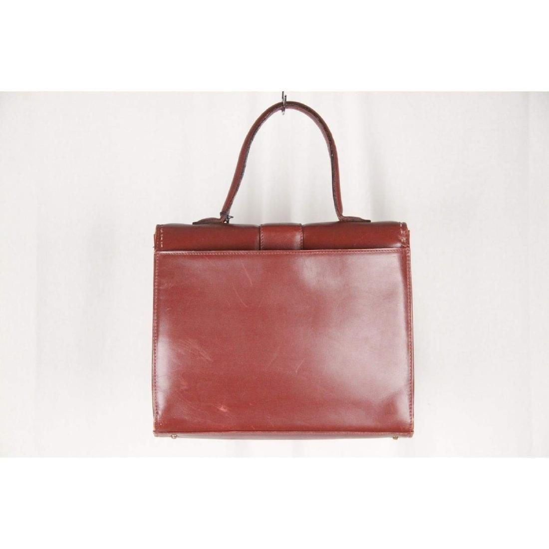 MONTENAPOLEONE Vintage Brown Leather HANDBAG - 5