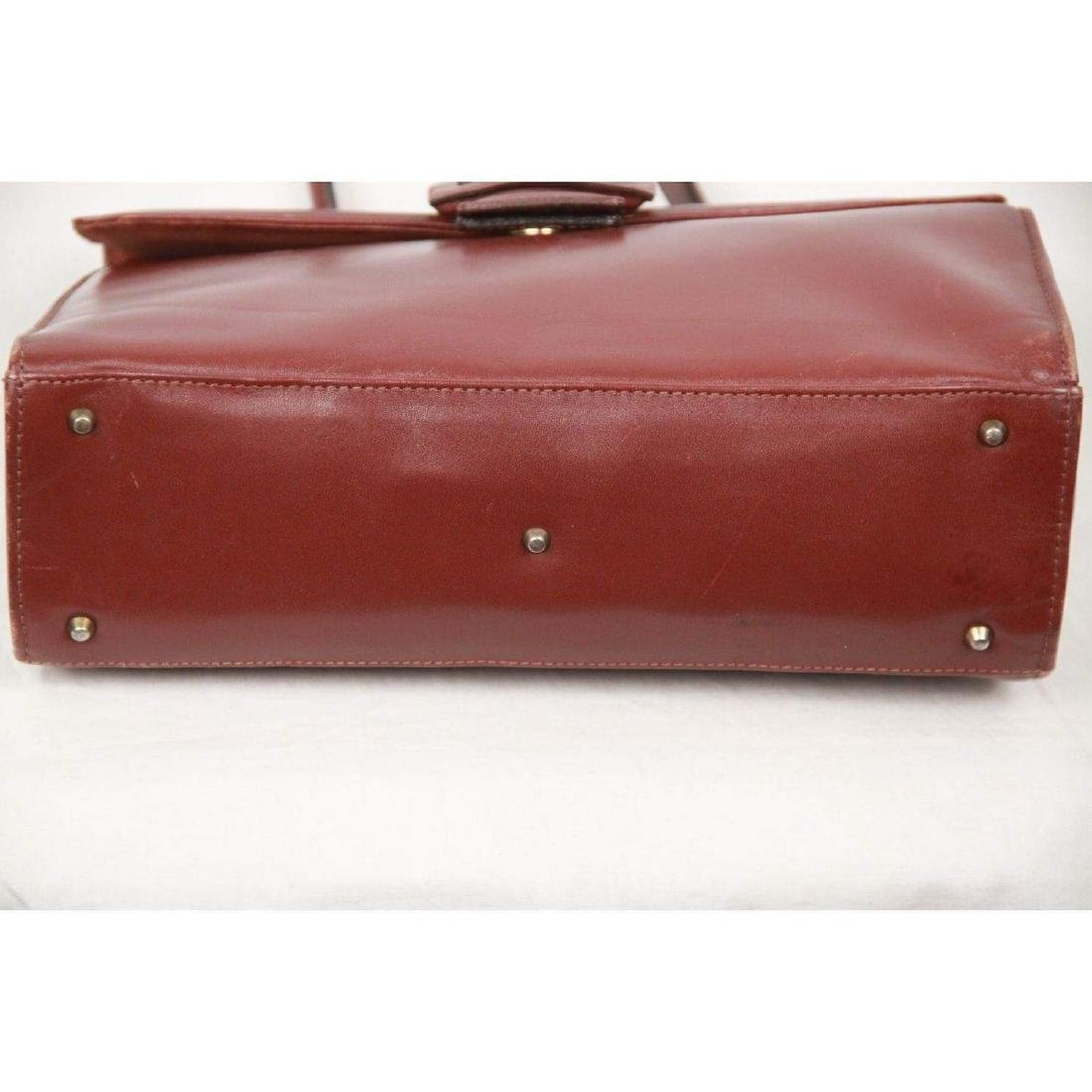 MONTENAPOLEONE Vintage Brown Leather HANDBAG - 6