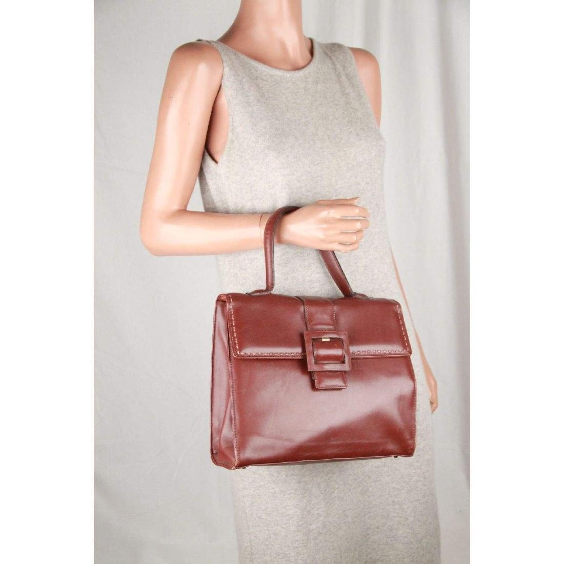 MONTENAPOLEONE Vintage Brown Leather HANDBAG - 7