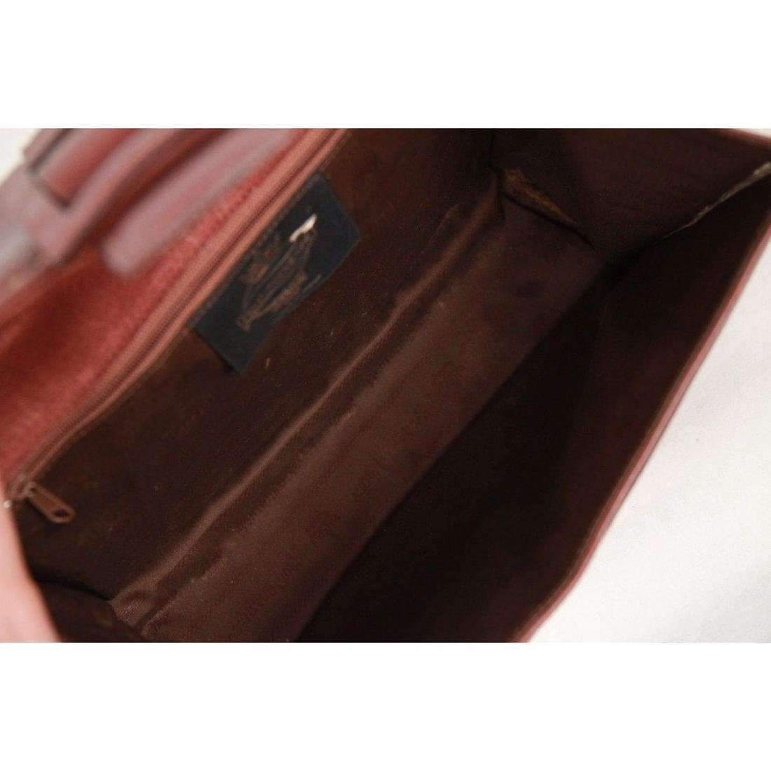 MONTENAPOLEONE Vintage Brown Leather HANDBAG - 8