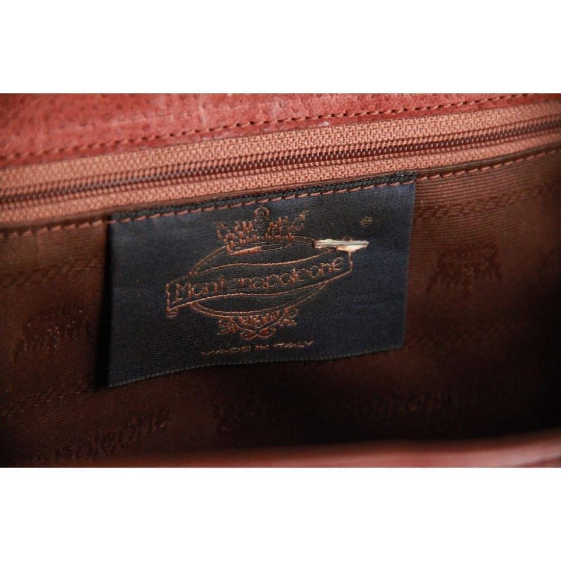 MONTENAPOLEONE Vintage Brown Leather HANDBAG - 9