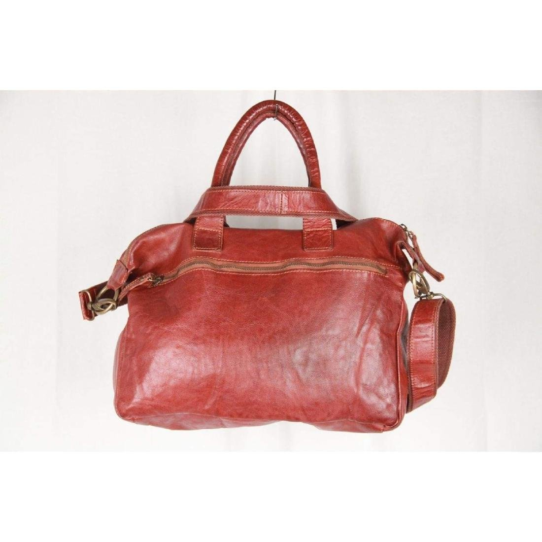 COWBOYSBAG Brown Leather THE BAG Satchel with WOVEN - 6