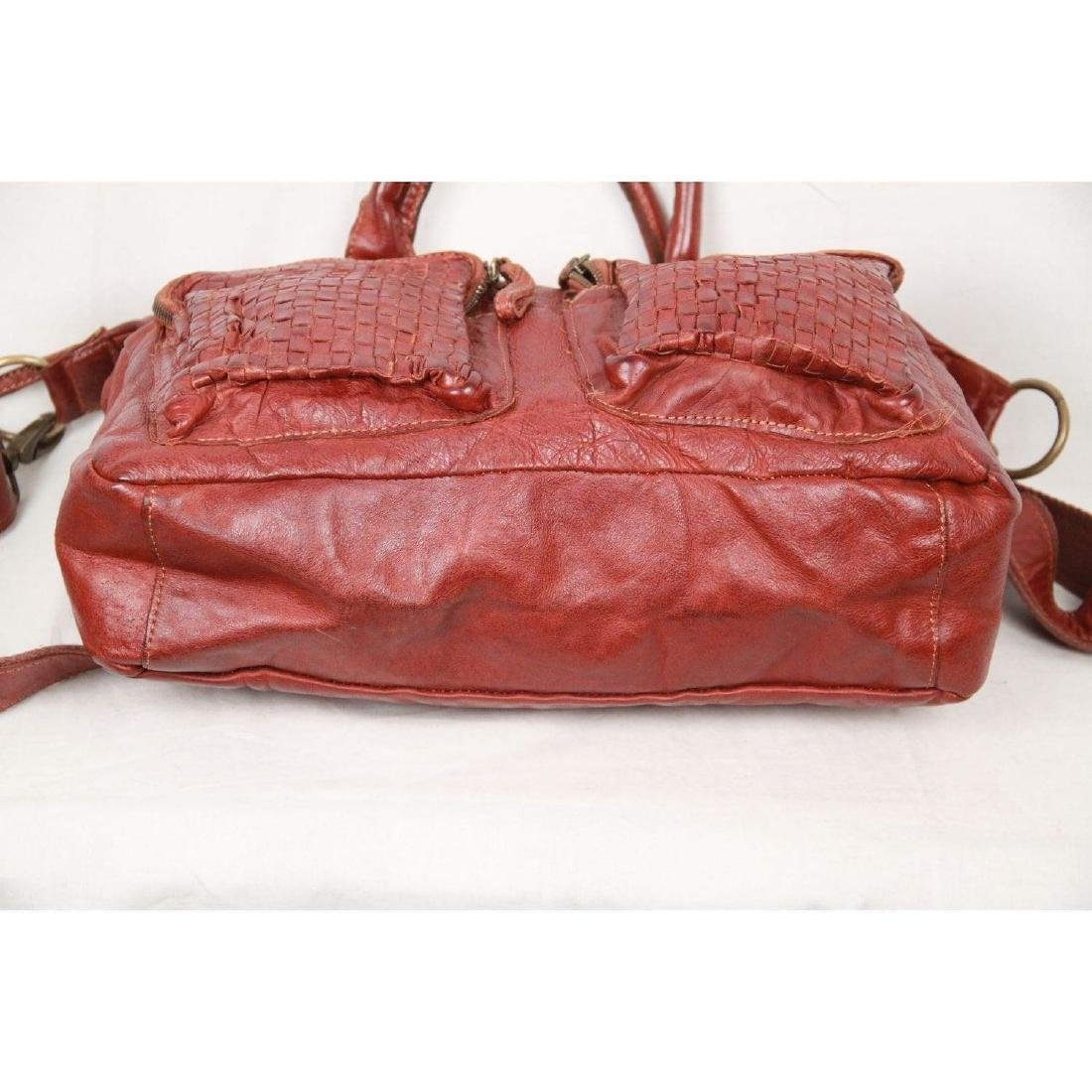 COWBOYSBAG Brown Leather THE BAG Satchel with WOVEN - 9