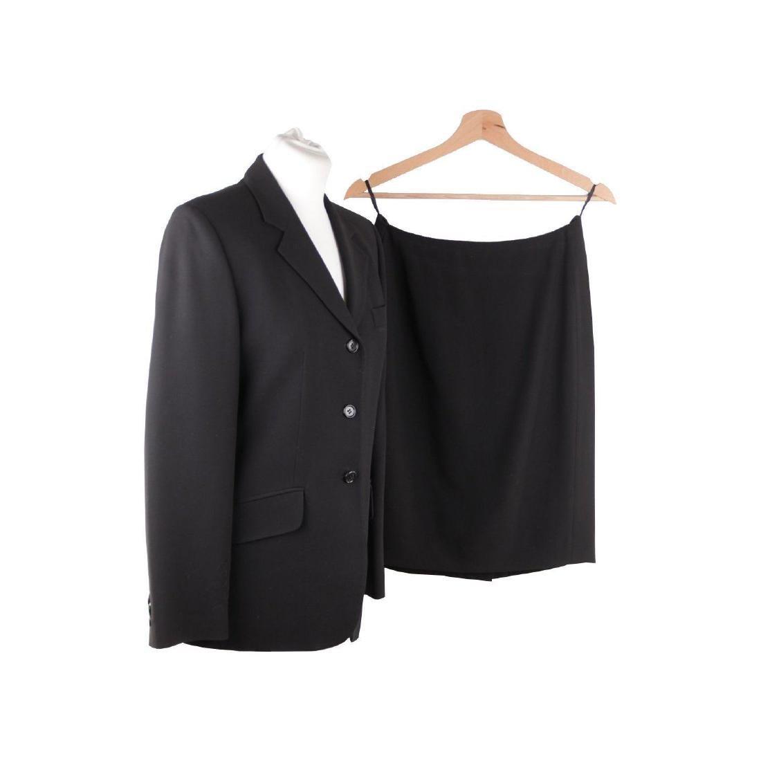 ASPESI BLU Black Wool Blend SUIT BLAZER Jacket And