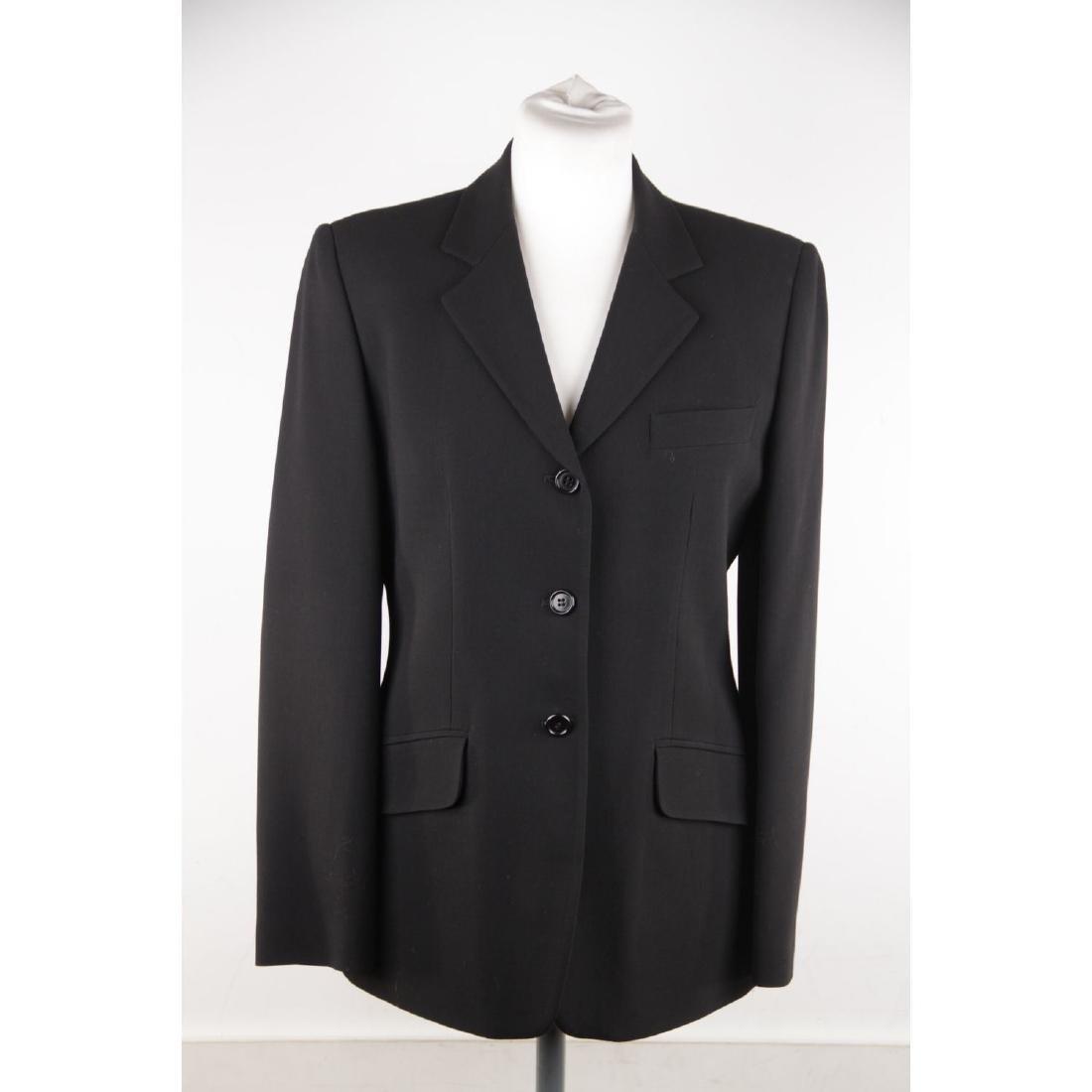 ASPESI BLU Black Wool Blend SUIT BLAZER Jacket And - 2