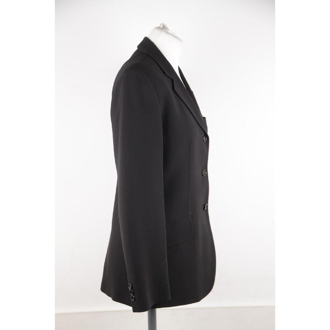 ASPESI BLU Black Wool Blend SUIT BLAZER Jacket And - 3