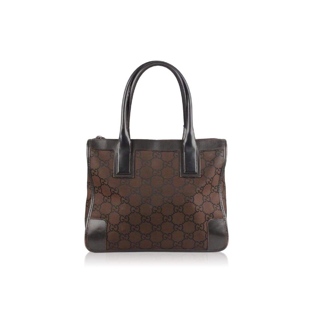 Gucci Monogram Canvas Satchel Bag