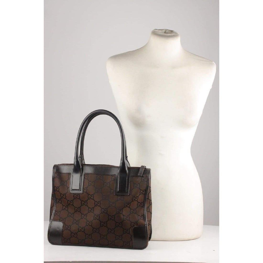Gucci Monogram Canvas Satchel Bag - 2