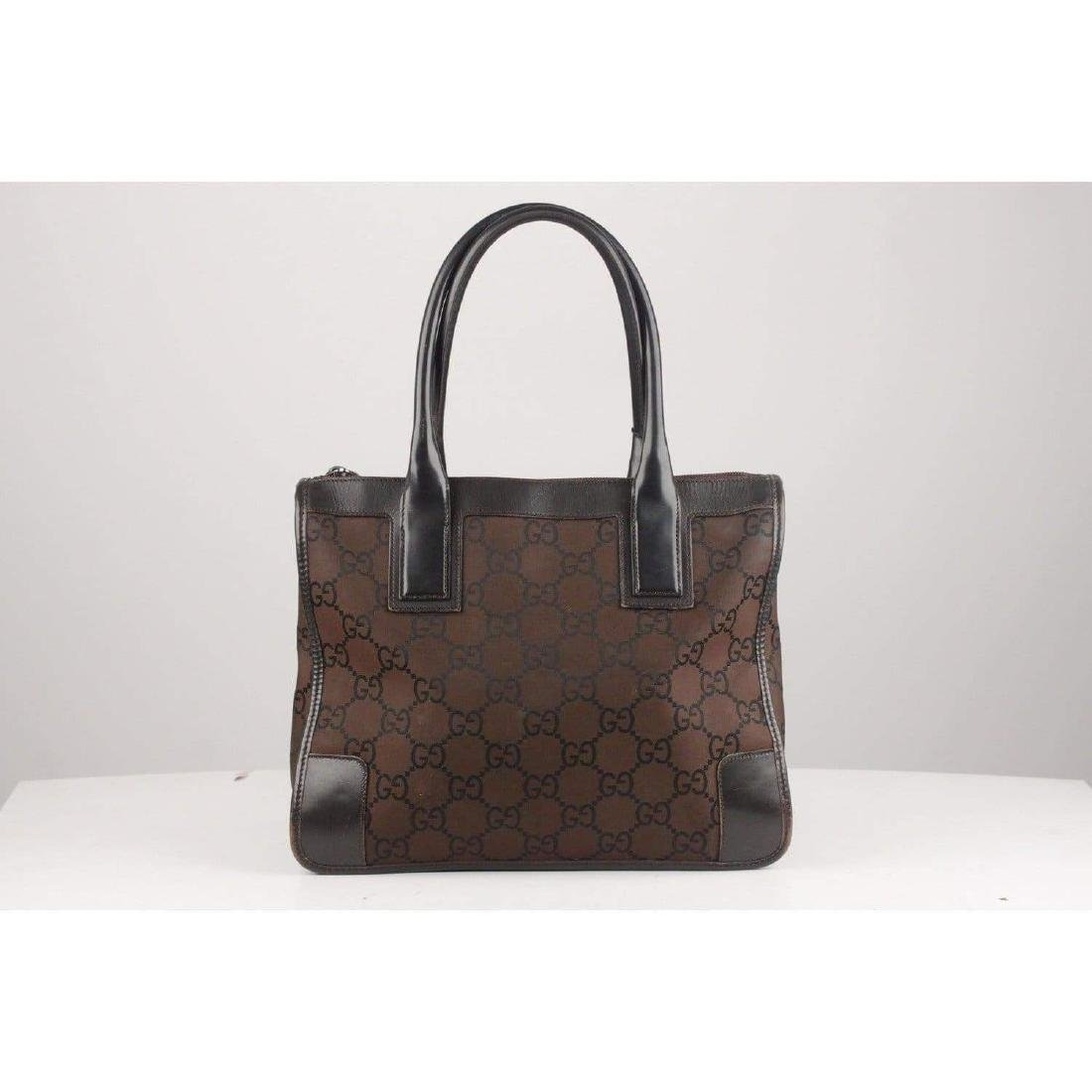 Gucci Monogram Canvas Satchel Bag - 3
