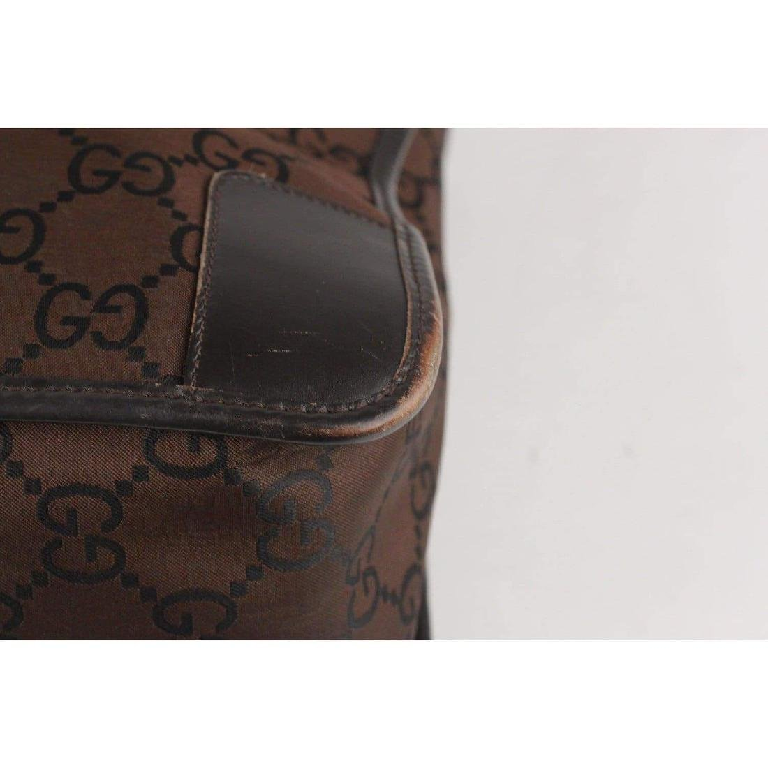 Gucci Monogram Canvas Satchel Bag - 5