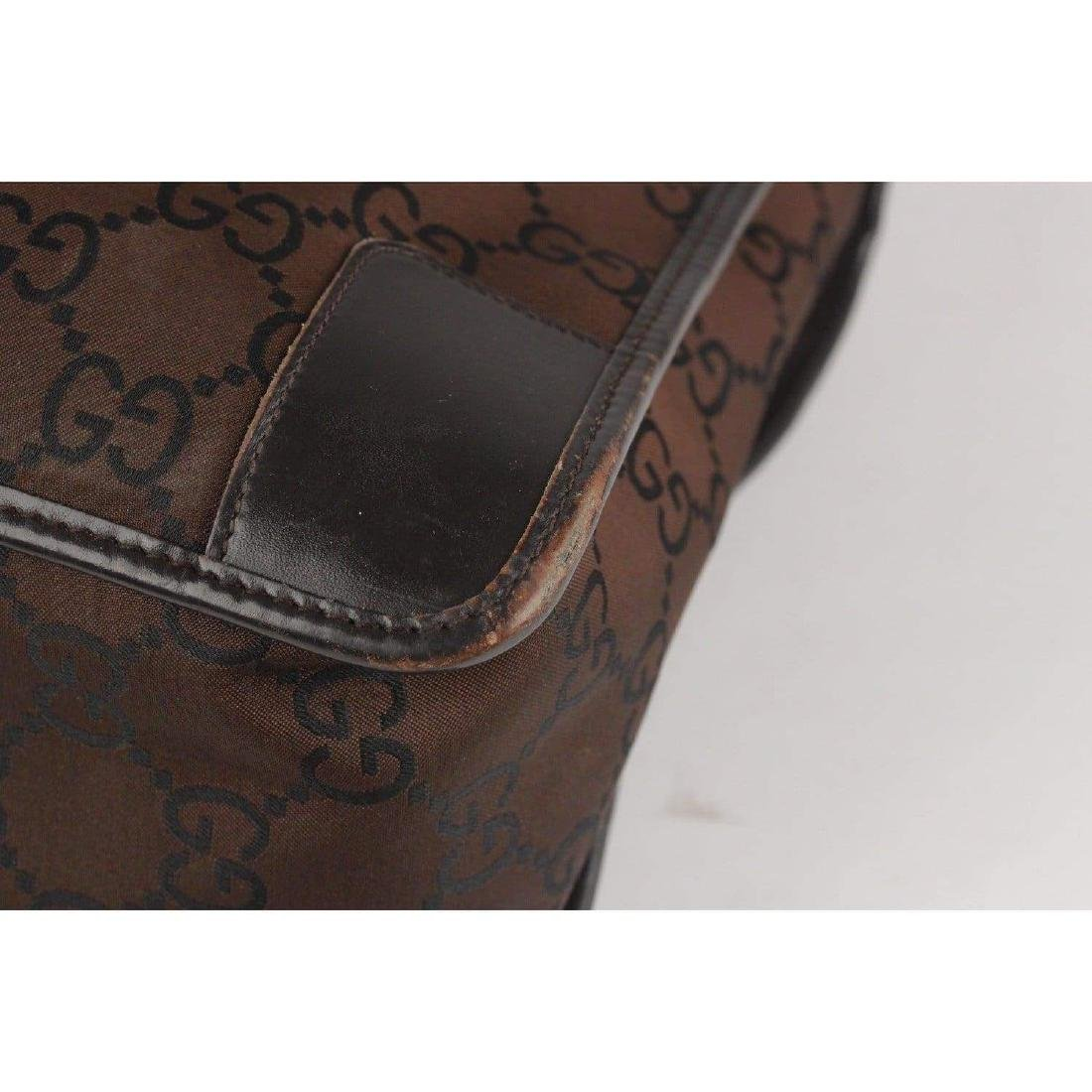 Gucci Monogram Canvas Satchel Bag - 6