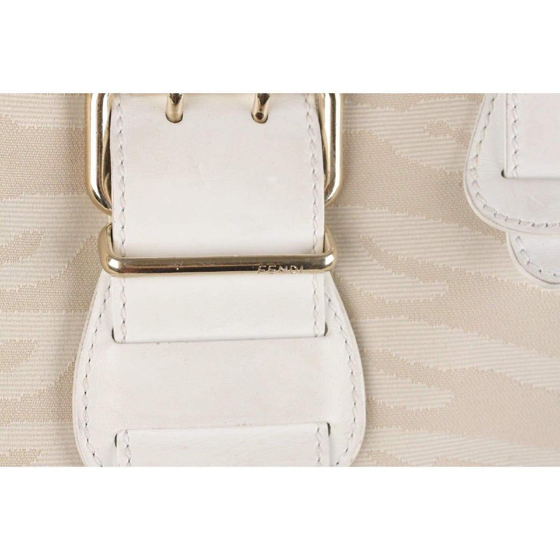 Fendi Zebra Canvas Tote Shoulder Bag - 3
