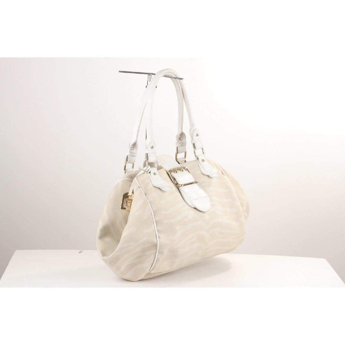 Fendi Zebra Canvas Tote Shoulder Bag - 4