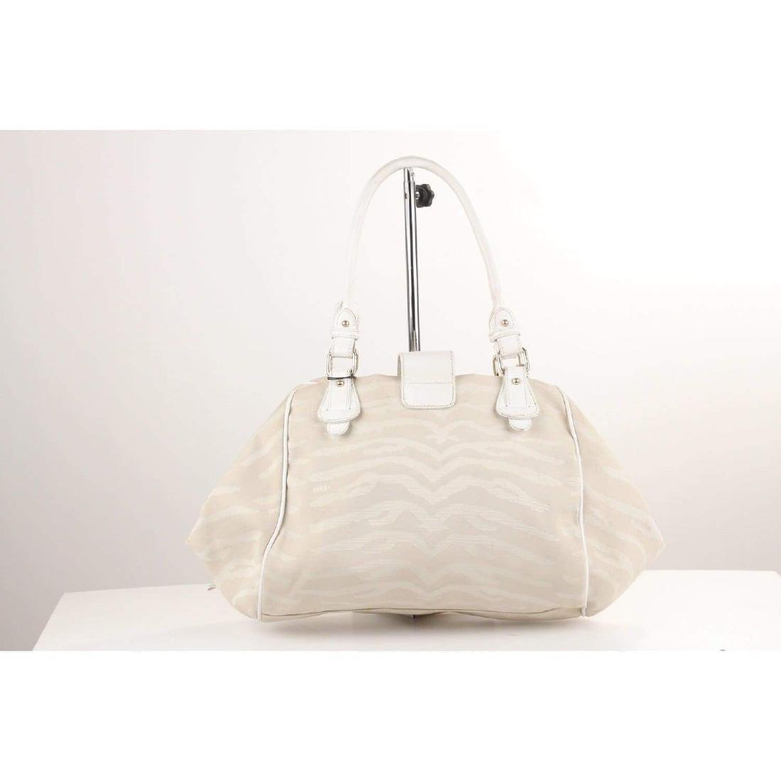 Fendi Zebra Canvas Tote Shoulder Bag - 5