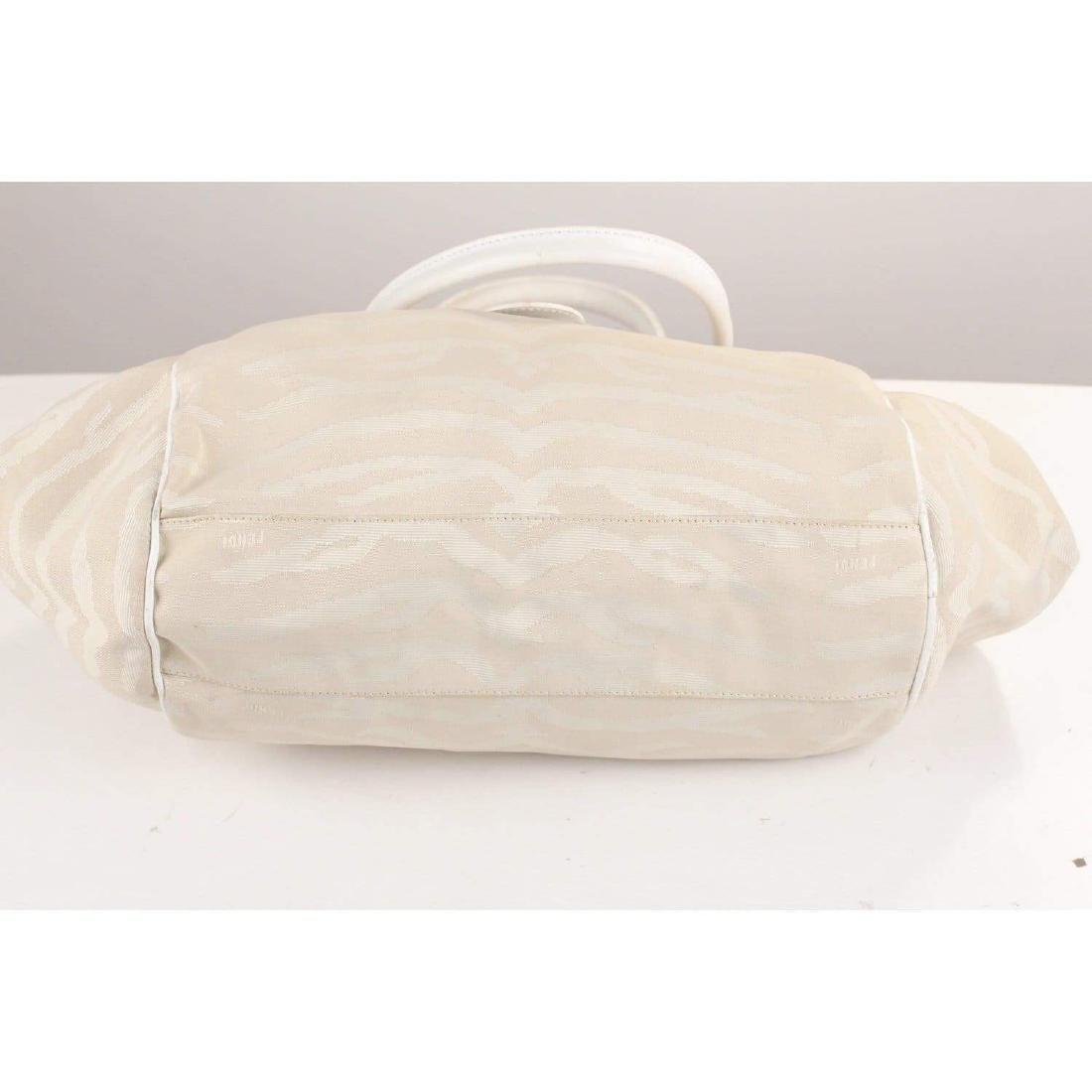 Fendi Zebra Canvas Tote Shoulder Bag - 6