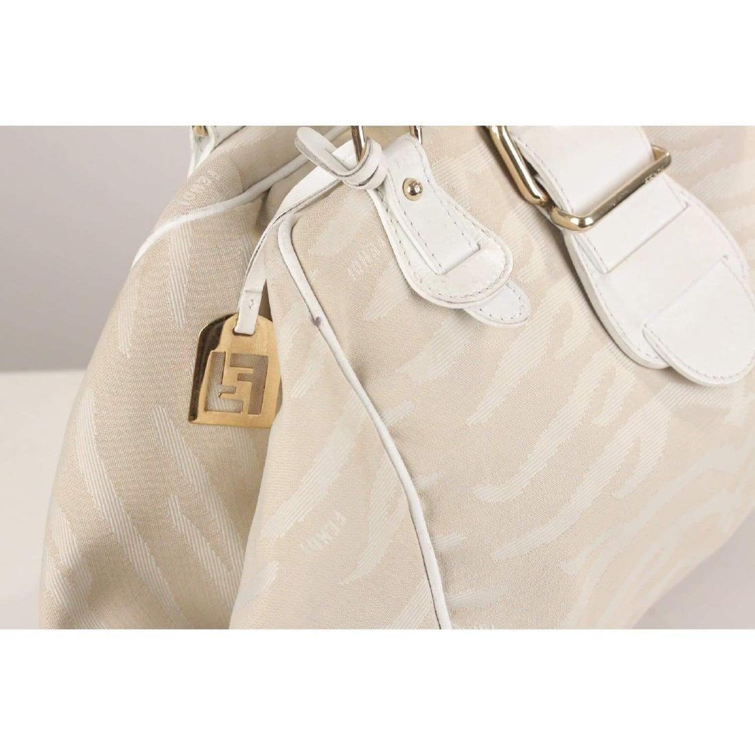 Fendi Zebra Canvas Tote Shoulder Bag - 8